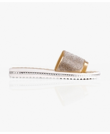Gem Embellished Rubber Slides