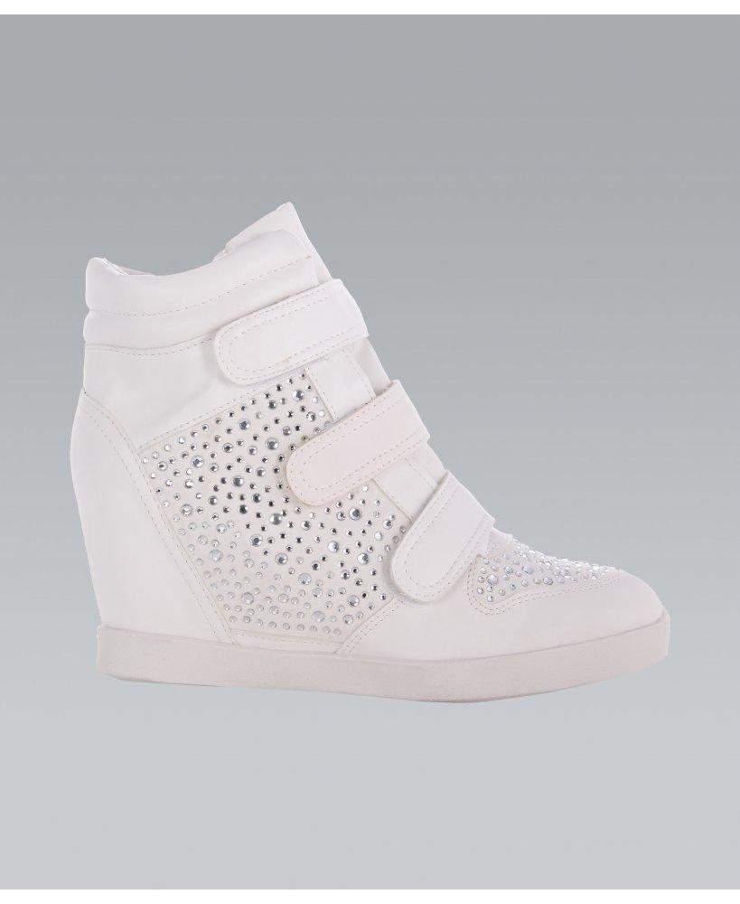 KRISP Gem Studded High Heel Fashion