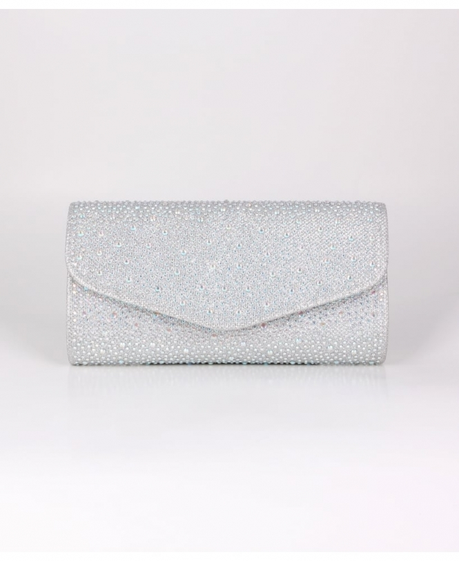 KRISP Glitter and Rhinestone Envelope Clutch
