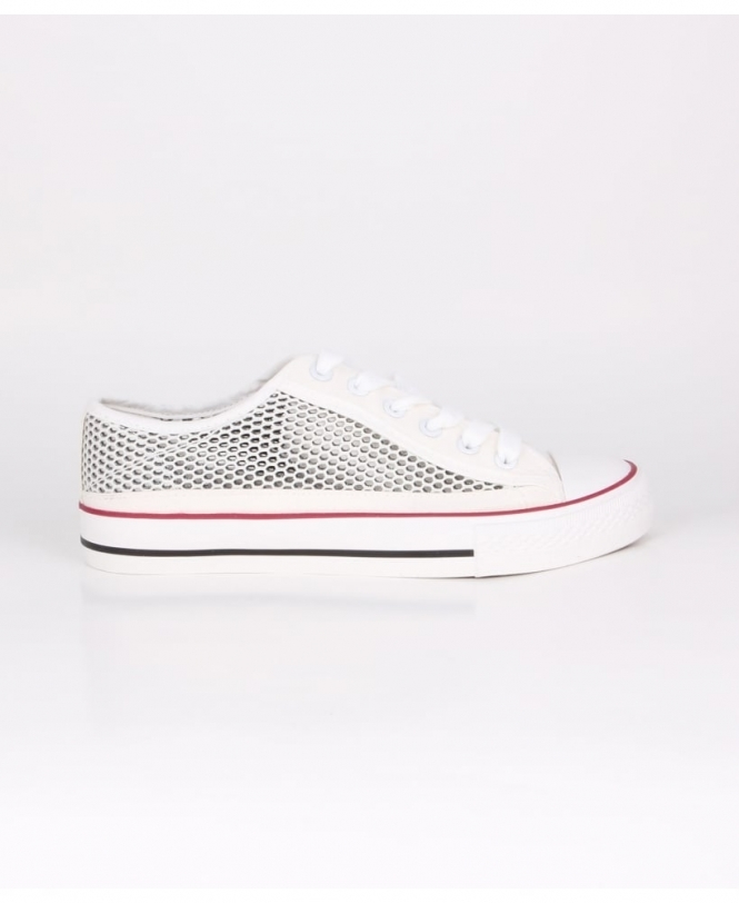 KRISP Glitter Net Low Top Trainers