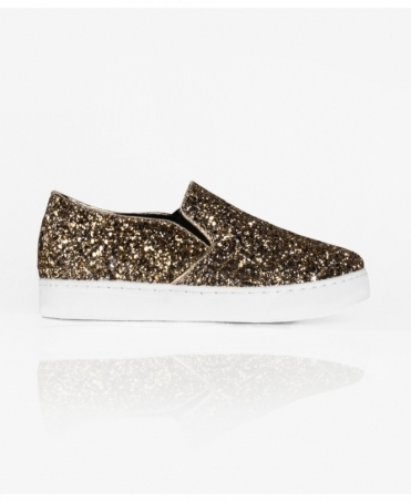 Glitter Slip On Plimsol Trainers