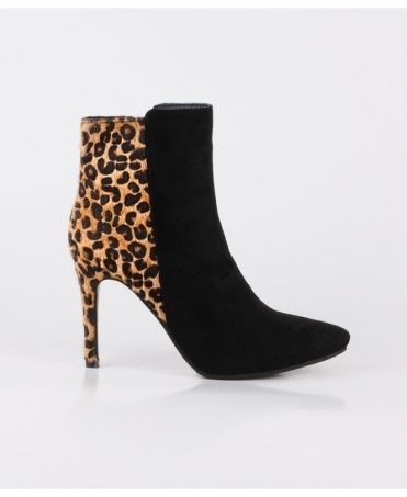 Heeled Leopard Ankle Boots
