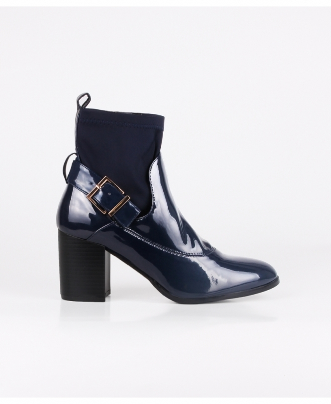 KRISP High Fashion Patent Ankle Boots