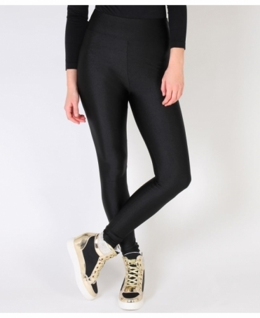 High Waisted Black Disco Leggings