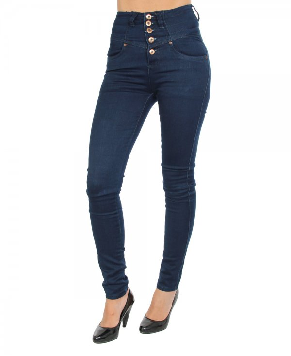 Celebrate your retro side with the tempting look of high waist jeans. Take a peek at our many available high rise jeans. Achieve the look with a ruffled top and platform strappy sandals. From casual to a night out with your girlfriends these jeans belong in every girl's closet.