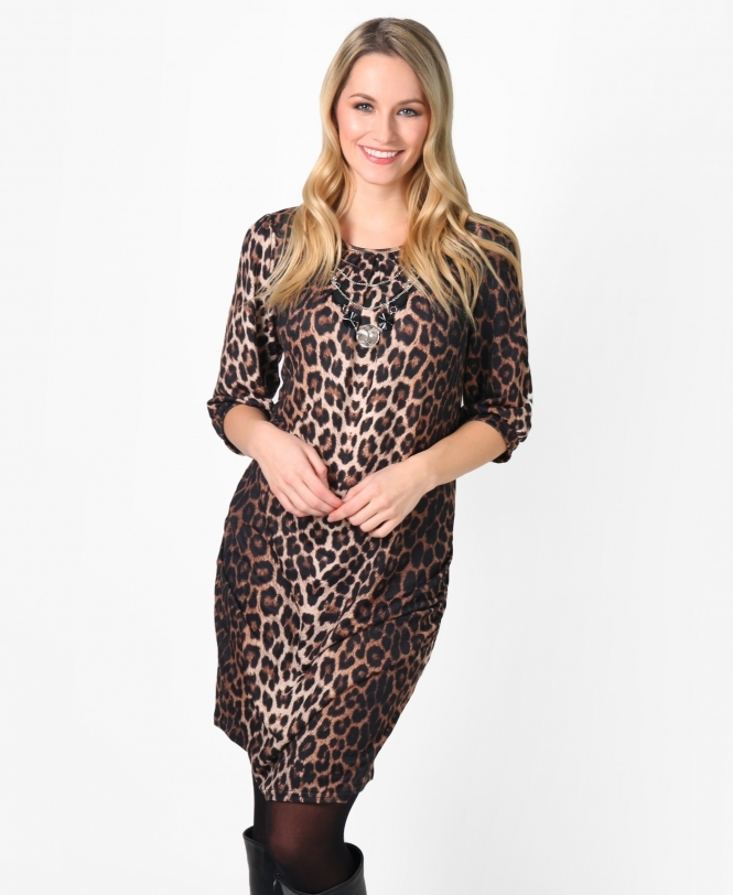 KRISP Hitched Side Printed Tunic Dress