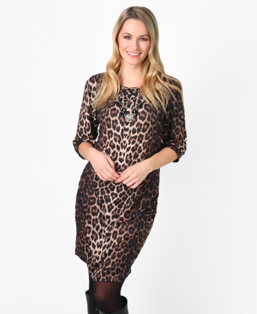 Hitched Side Printed Tunic Dress