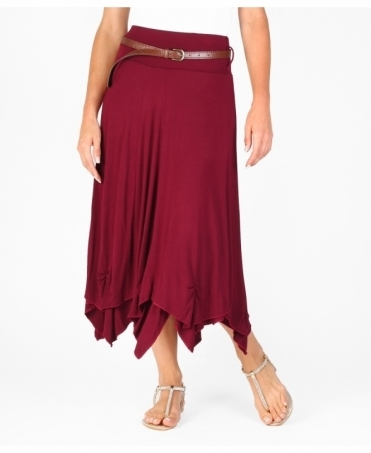 Hitched Up Belted Maxi Skirt