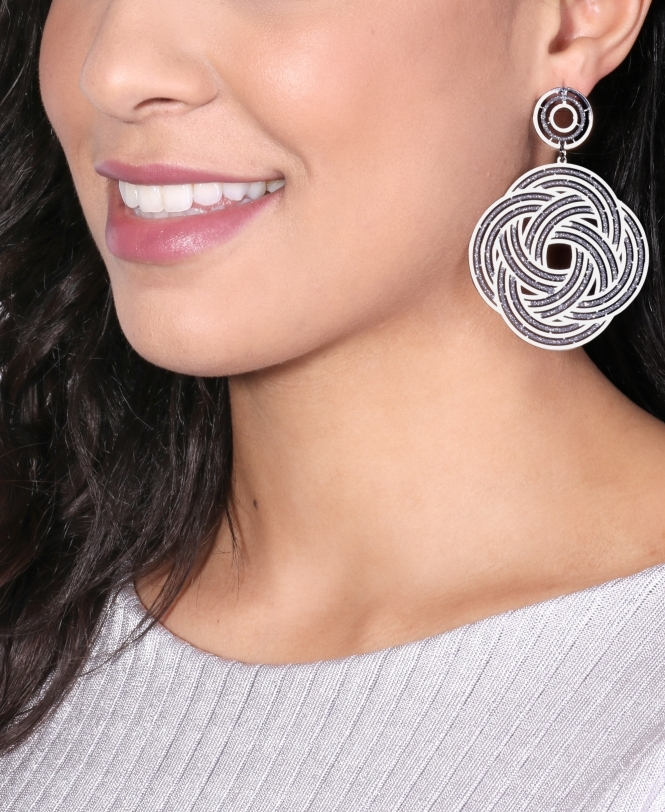 KRISP Intricate Glitter Swirl Earrings