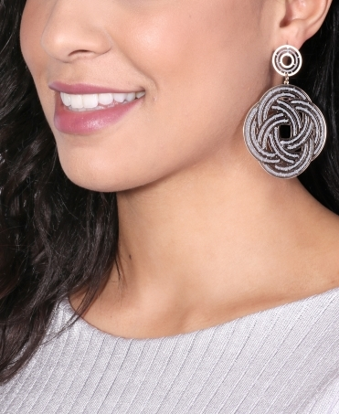 Intricate Glitter Swirl Earrings