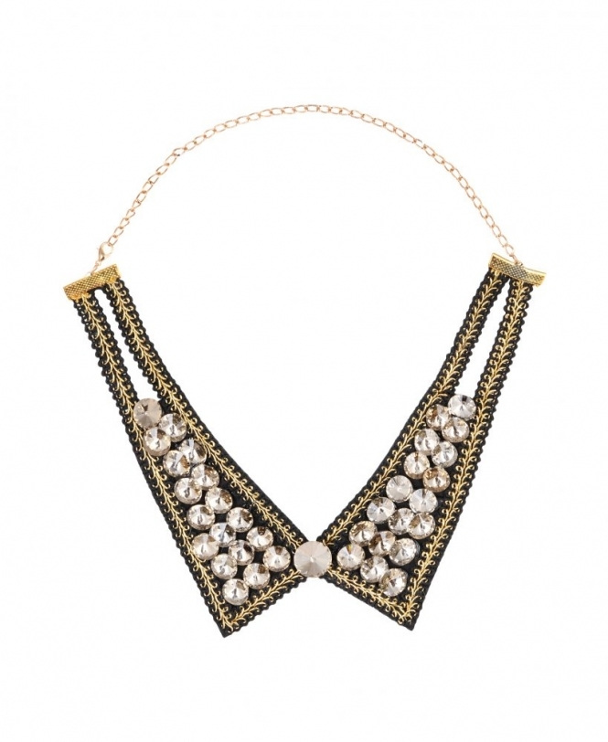 Krisp Jewelled Peter Pan Collar Necklace Accessories From Krisp