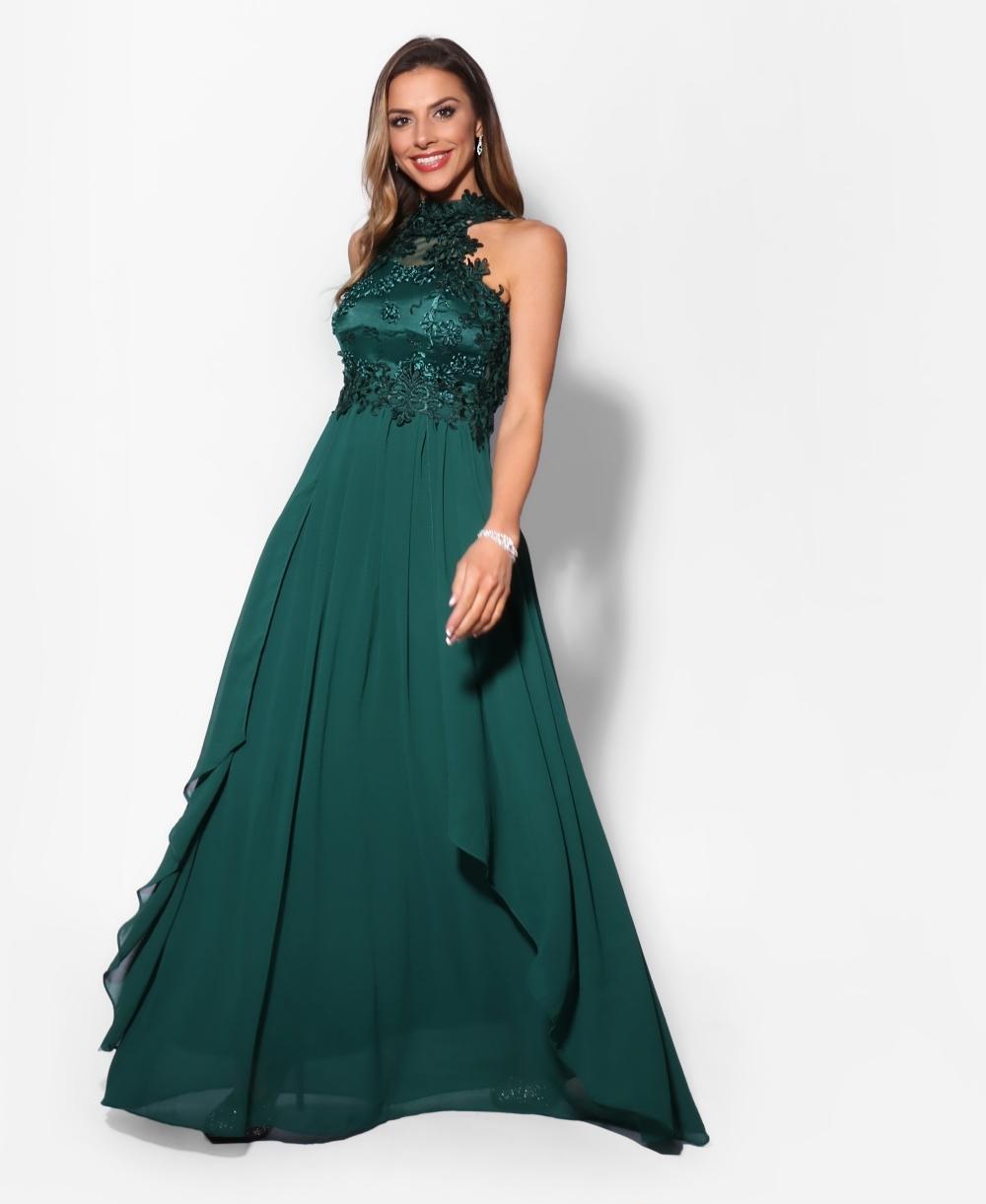 f4fd5db2 Prom Dresses | Lace Halterneck Maxi Dress | KRISP