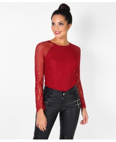 Lace Long Sleeve Body