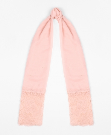 Lace & Pearl Thin Scarf