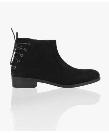 Lace Up Back Ankle Boots