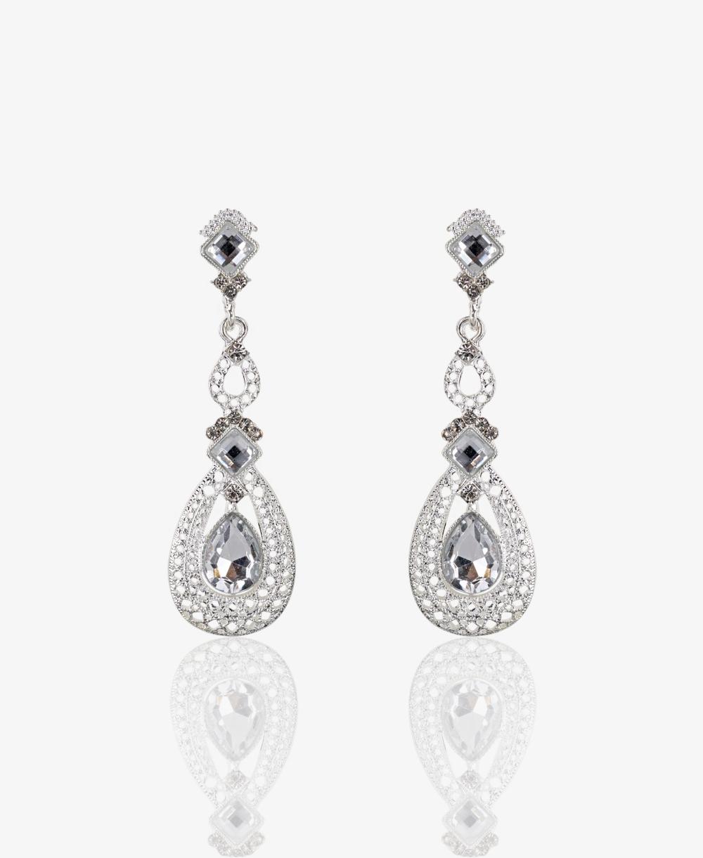 f5ce2c1bb50 KRISP Large Oval Diamante Drop Earrings