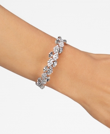 Leaf Design Bling Bracelet