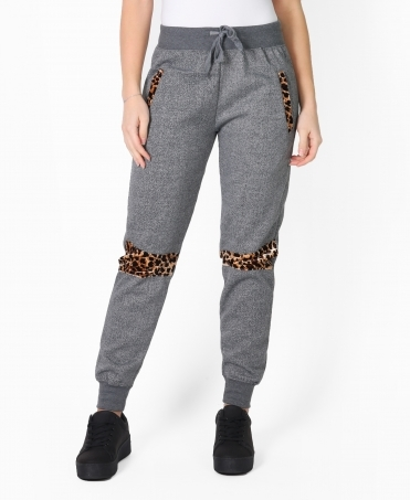 Leopard Knee Tracksuit Trousers