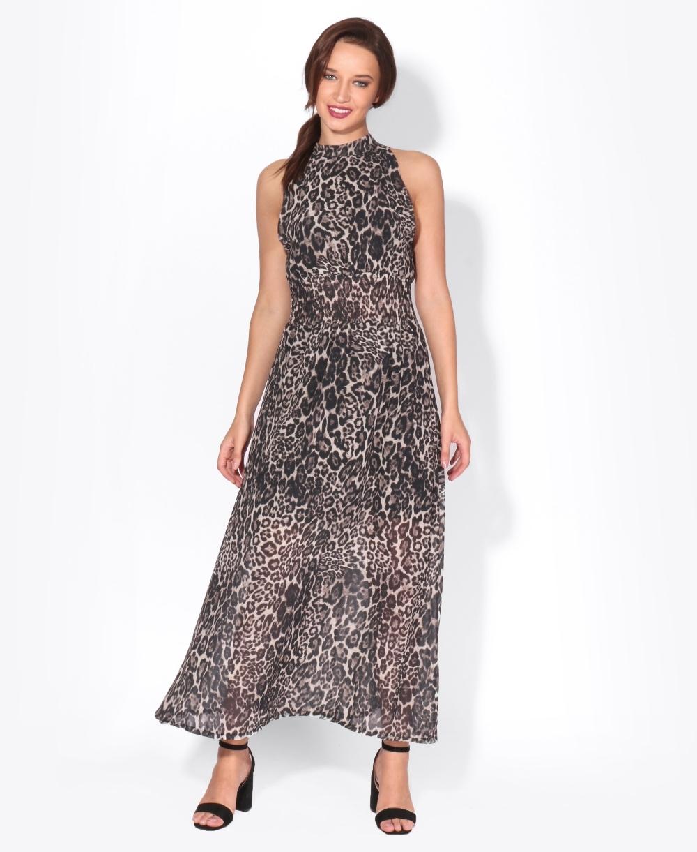 64efd830a41980 Leopard Print Chiffon Maxi Dress