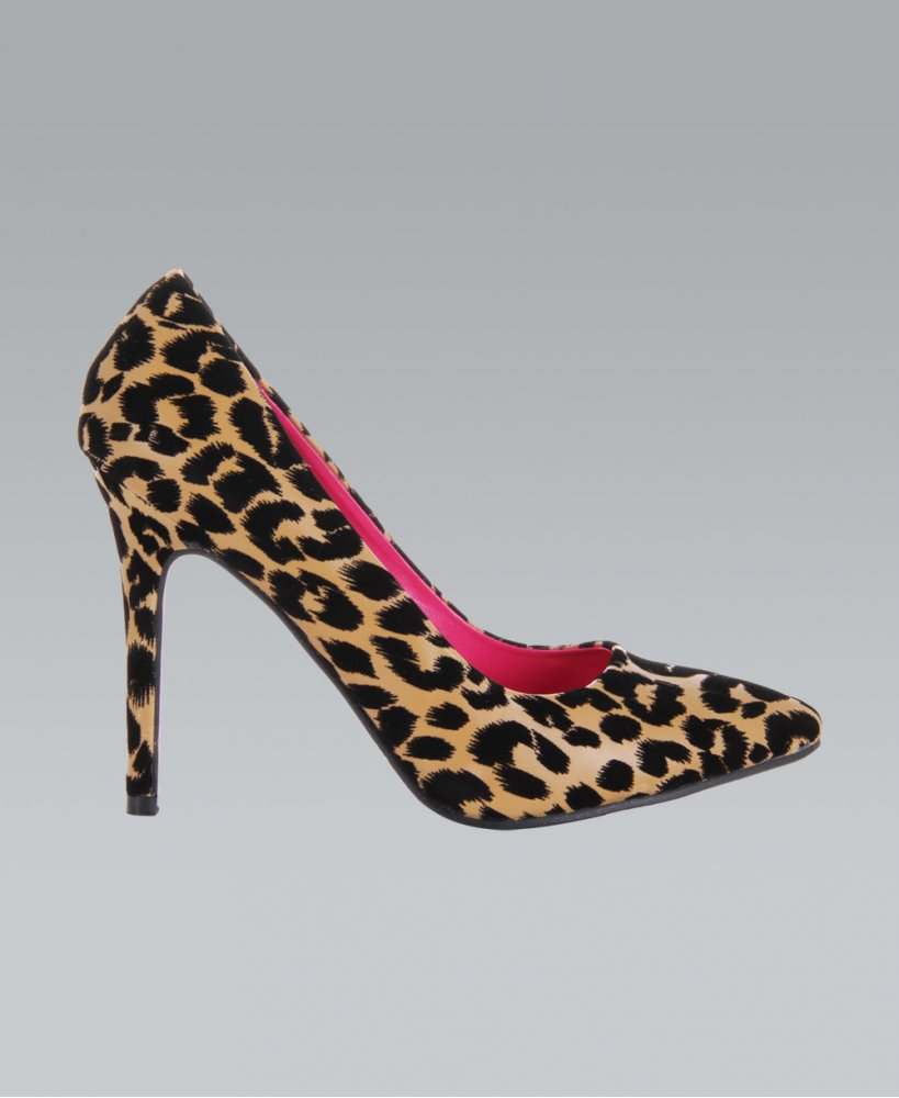 KRISP Leopard Print Pointed Toe High