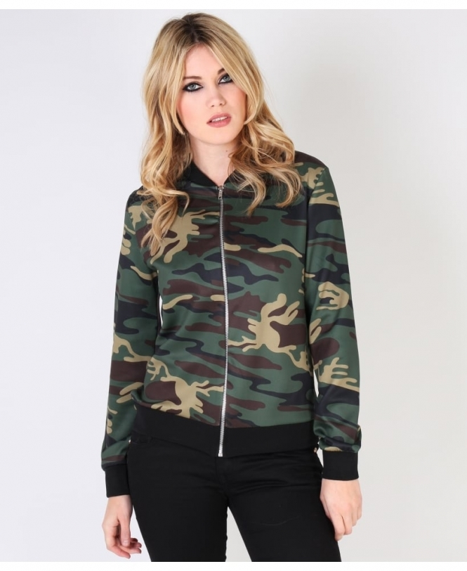8fc68241a6cdd KRISP Light Camouflage Print Bomber Jacket - Womens from Krisp ...