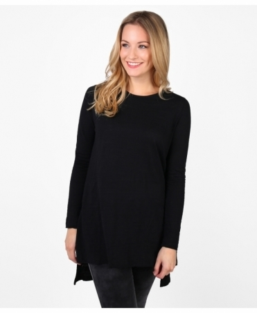 Longline Cotton Jersey Top