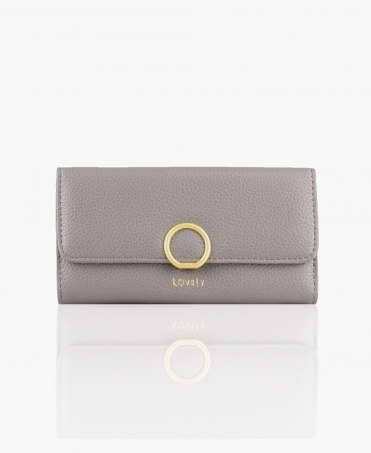 'Lovely' Textured Foldover Purse