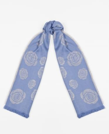 Lurex Rose Silky Square Scarf