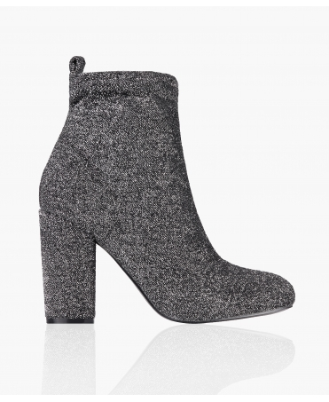 Lurex Sock Ankle Boots
