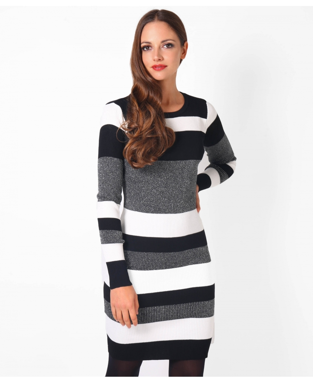 jumper dresses  lurex striped mini jumper dress  krisp