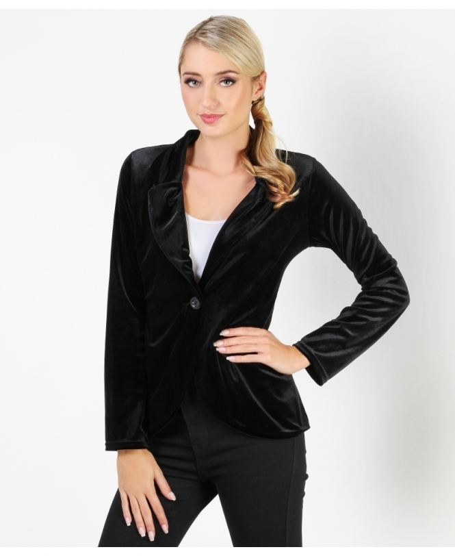 KRISP Luxe Tailored Velour Blazer