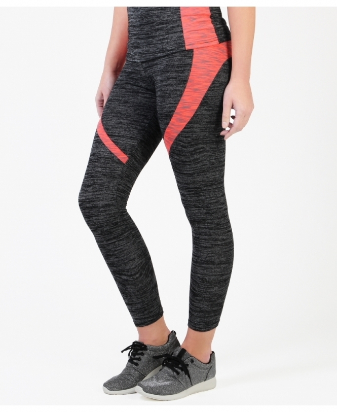 KRISP Marl Print Coral Sports Leggings