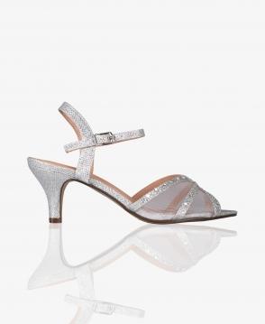 e7e26c5c60 KRISP Mesh & Glitter Kitten Heel Sandals