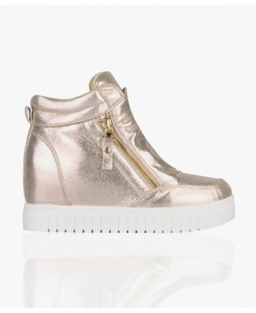 Metallic Fashion Wedge Trainers