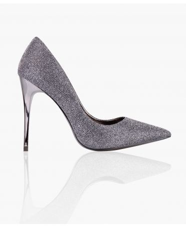 Metallic Heel Lurex Court Shoes