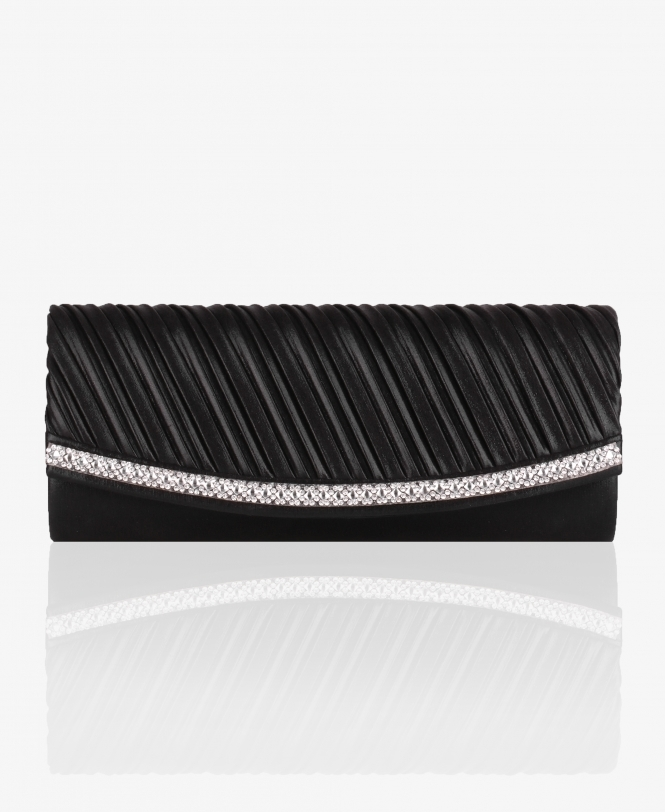 KRISP Metallic Satin Evening Clutch