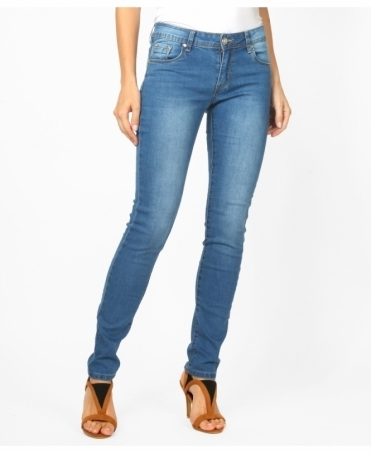 Mid Rise Faded Skinny Jeans