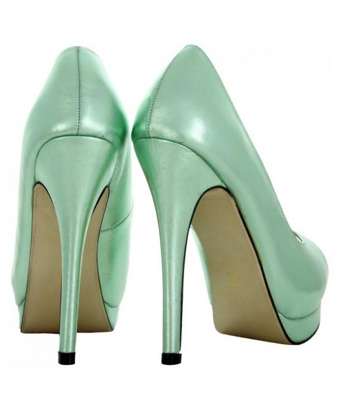 95ad5b293cc KRISP Mint Open Toe Shiny High Heels