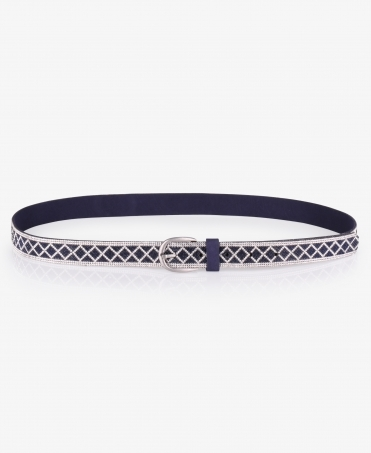 Mixed Diamante Thin Buckle Belt