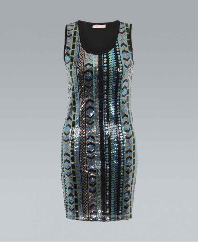 d488d9a86b8 KRISP Multicolour Sequin Embellished Party Dress - New In from Krisp ...