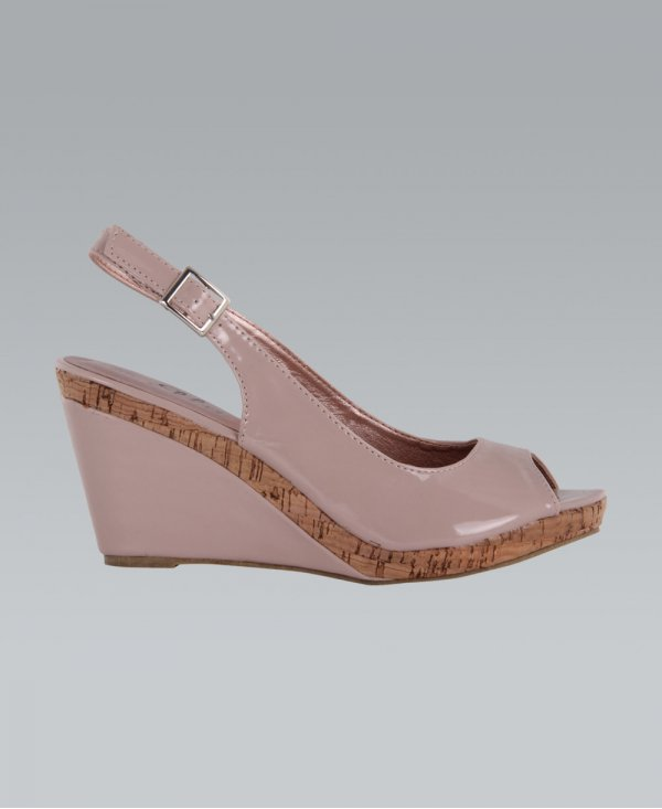 Dune Carin Slingback Mid Heel Court Shoes | Nude at John