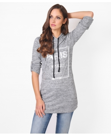 'Paris' Soft Knit Hooded Jumper