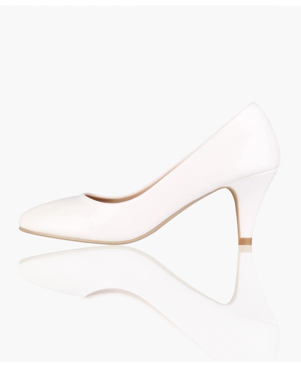 225357b7f2 Court Shoes | Patent Kitten Heel Courts | Krisp
