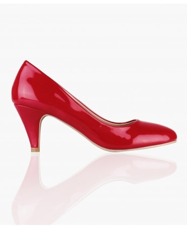Patent Kitten Heel Courts