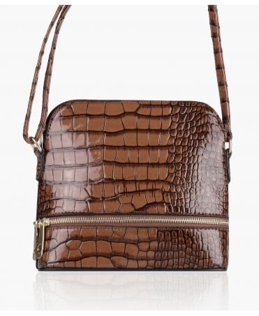 Patent Snakeskin Cross Body Bag