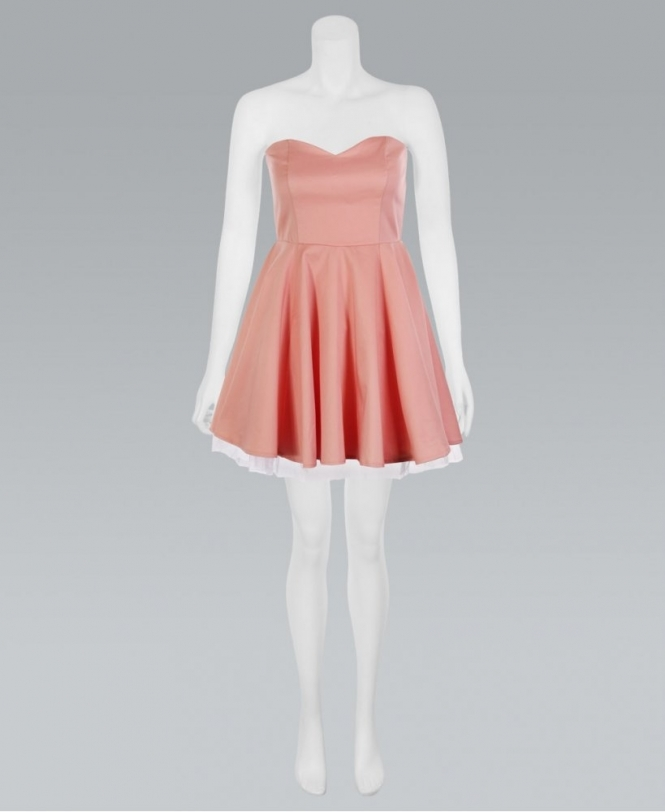 KRISP Peach Pastel Sweetheart Bandeau Tutu Prom Dress