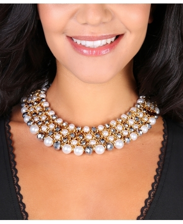 Pearl Beaded Chunky Necklace