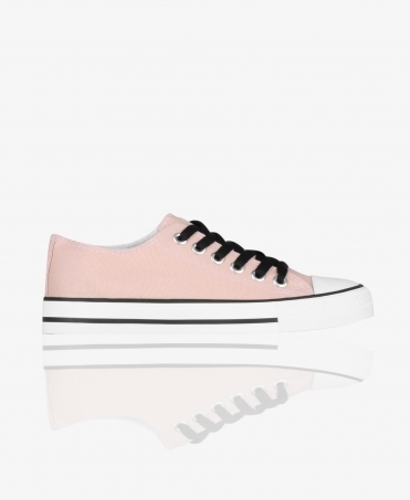Plain Basic Low Top Trainers