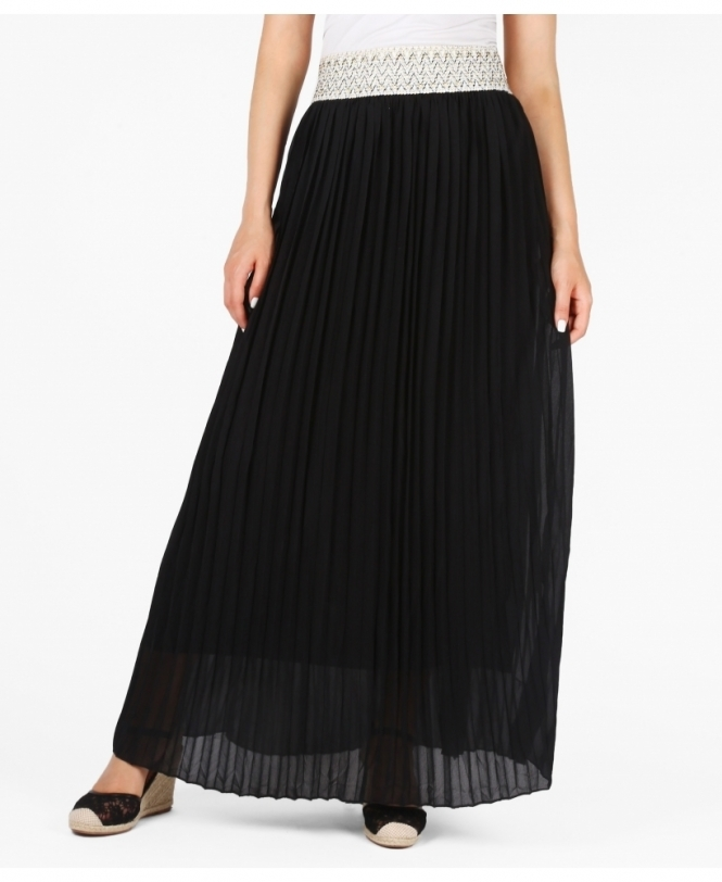 e74dc292e Skirts | Pleated Chiffon Maxi Skirt | Krisp