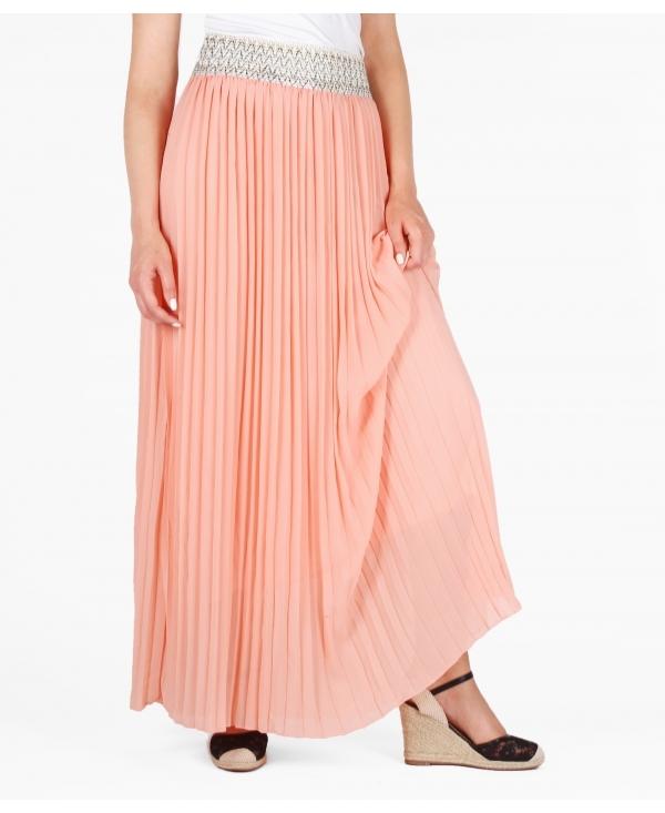 Skirts | Pleated Chiffon Maxi Skirt | Krisp